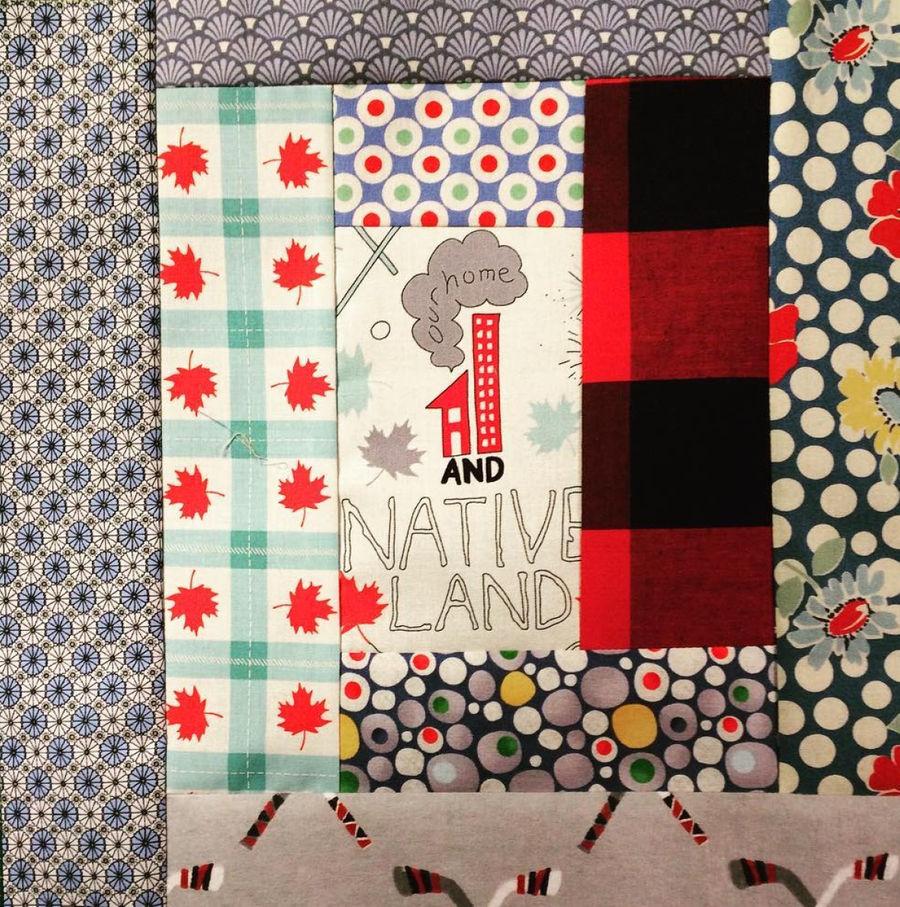 The block designed by Cheryl Arkison of Calgary